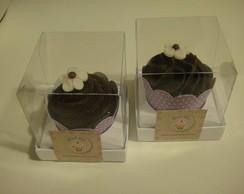 Cupcake/mini cupcake ganache + florzinha