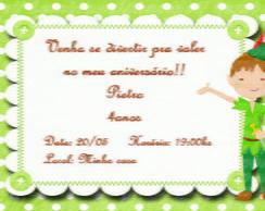 Convite Peter Pan