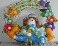 Guirlanda Menino no Jardim