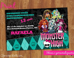 convite monster high - ref 057