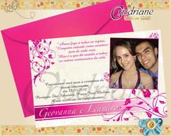 Convite de casamento Pink
