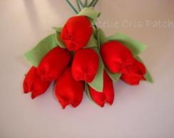 Tulipa em tecido
