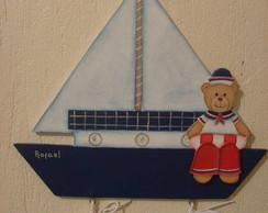 Placa maternidade urso marinheiro