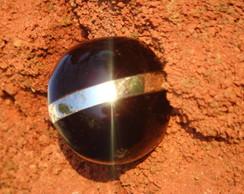 Anel em semente de tucum� a�� e metal