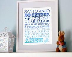Poster Ora��o Santo Anjo do Senhor Azul