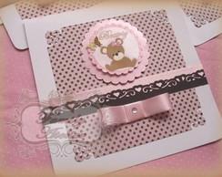 Convite Ursa Proven�al rosa/marrom