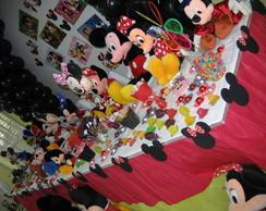 Enfeite mesa Mickey e Minie