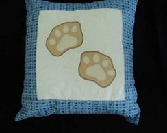 Capa almofada decorada urso