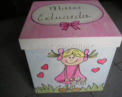 caixa para brinquedo menina