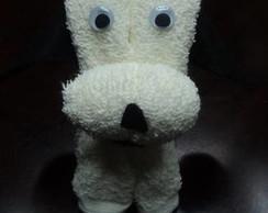 Cachorrinho feito de toalha de lavabo