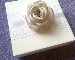 Caixa Rosa de Cetim