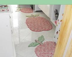 Tapetes artesanais de barbante p/cozinha