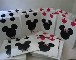 Sacolas personalizadas Minnie e Mickey