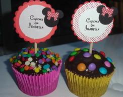 Topper para cupcake da Minnie