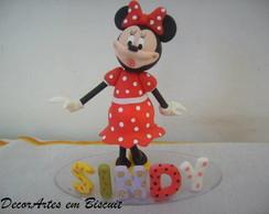 Topo de bolo minie vermelha
