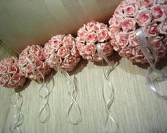 Bola de flores para decora��o