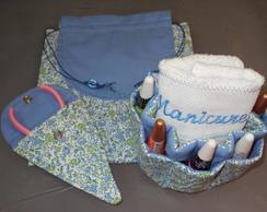 Kit manicure floral azul 3