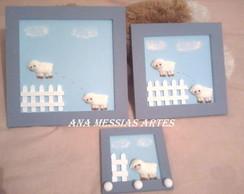 kit quadrinho de ovelhas