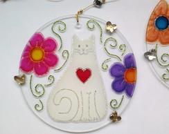Mandala Gatos e Flores