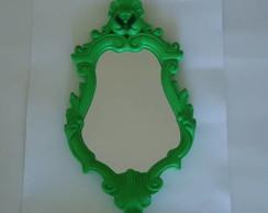Espelho em resina Verde -