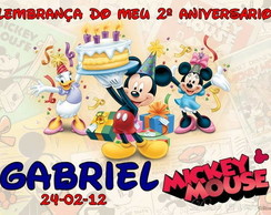 Cart�o de Agradecimento Turma do Mickey