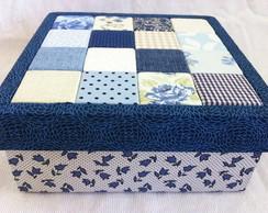 Caixa retalho azul