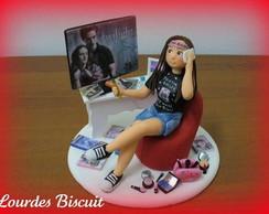 Topo de bolo - 15 anos da Fernanda