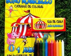 Kit de Colorir Personalizado - Circo