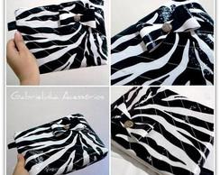 N�cessaire de couro zebra