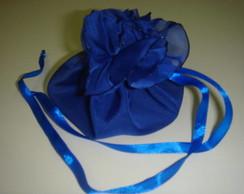 Saquinho multifuncional - azul royal