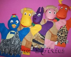 Fantoches dos Backyardigans tema Safari