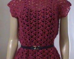 Blusa de croch� pink