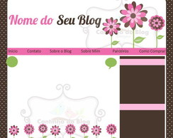 Template Flowers Sweet + Logo+ Cart�o