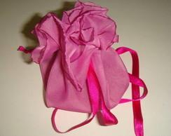 Saquinho multifuncional - rosa escuro