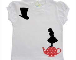 Camisetinha Alice in Wonderland