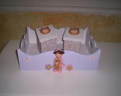 caixa higienica menina urso