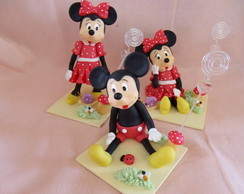 PORTA RECADO MICKEY E MINNIE EM BISCUIT