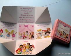 Convite Princesas Baby