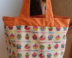 Lunch Bag cupcakes laranja