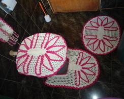 jogo de banheiro de croch�