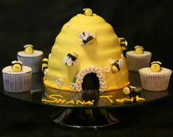 Bolo de Mel e Cupcakes