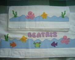 Toalha infantil fundo do mar