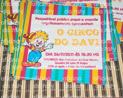 CONVITES PERSONALIZADOS - CIRCO