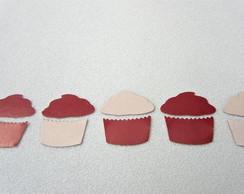 Apliques Cupcake - Kit c/ 10 unidades