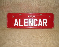 PLACA MOTOS ALENCAR