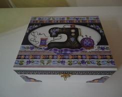 Caixa de costura lil�s
