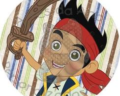 Jake e os Piratas R�tulo Adesivo
