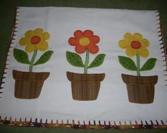 Pano de prato vaso de flores