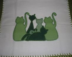 Pano de prato Gatinhos Verdes
