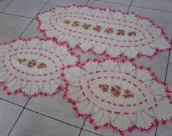 Jogo Cozinha Primavera Oval Rosa